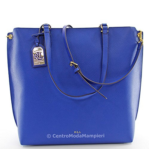 BORSA RALPH LAUREN ABBY TOTE CROWN BLUE