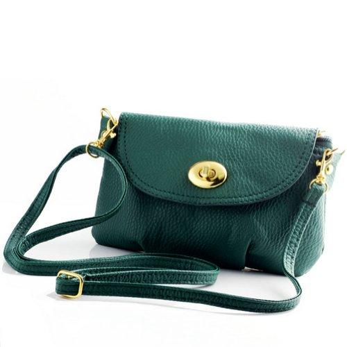 Luckshop2012 , Damen Schultertasche One Size Fits All, Grün - grün - Größe: One Size Fits All