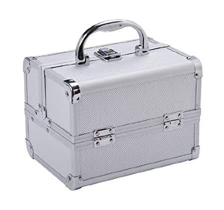 Soozier Professional Makeup Artist Cosmetic Travel Mini Case with Pull-Out Trays - Silver at Sears.com
