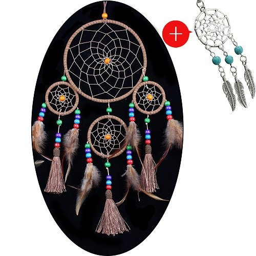 "YYAO® Dream Catcher ~ Handmade Traditional Original (Original flavor) 6"" Diameter 22"" Long(With a Gift)"