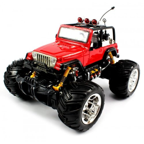 Big Size Quality Electric Full Function Electric Full Function 1:16 Jeep Wrangler Convertible Monster Rtr Rc Truck (Colors May Vary) Quality Remote Control Rc Trucks W/ Working Suspension