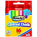 RoseArt Color Chalk, 16-Pieces, Assorted Colors, Packaging May Vary (420VA-144)