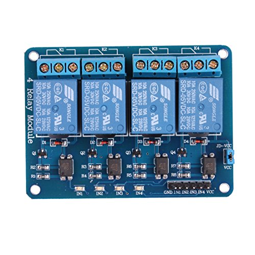 Jbtek 4 Channel Dc 5V Relay Module For Arduino Raspberry Pi Dsp Avr Pic Arm