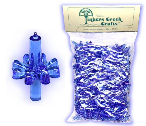 Candle Style Ornaments For Decorating Ceramic Christmas Trees-Blue-360 Pcs.