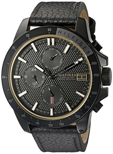 Tommy-Hilfiger-Mens-1791163-Analog-Display-Quartz-Black-Watch