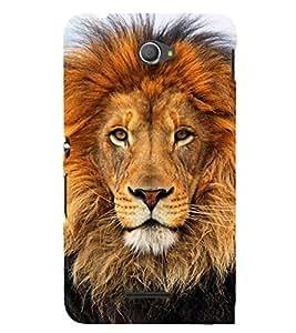 Lion Wallpaper 3D Hard Polycarbonate Designer Back Case Cover for Sony Xperia E4 Dual :: Sony Xperia E4