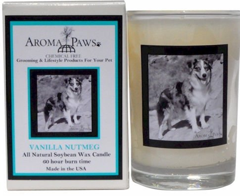 Aroma Paws 335 Breed Candle 5 Oz. Glass-Gift Box - Australian Shepherd