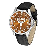 Texas Longhorns UT NCAA Mens Leather Anochrome Watch (Color: Team Color, Tamaño: Adjustable Band)