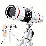 iphone 望遠レンズ Topist 18倍 望遠レンズキットスマホカメラレンズ 望遠鏡 遠距離撮影 ミニ三脚スタンド付き iPhone Samsung Galaxy専用 (望遠レンズ+三脚+ケース+収納ポーチ)