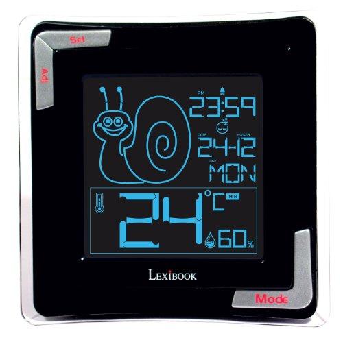 Lexibook Digital Thermometer, Hygrometer Sensor, Comfort Zone Display, Reverse Lcd With Backlight, Big Digits And Built In Calendar