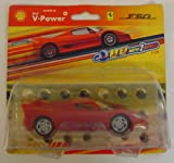 Hot Wheels Shell V Power 1:38 Scale Ferrari F50 Model Car Slight Wear To Card Packaging