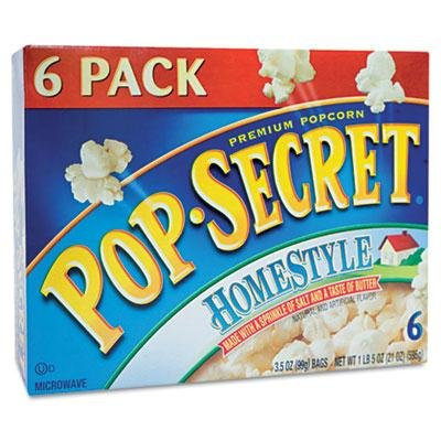 Brand New Pop Secret Microwave Popcorn Homestyle 3.5Oz Bags 6/Box