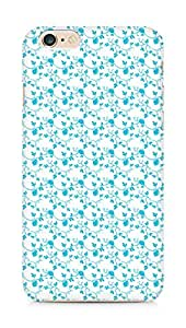 AMEZ designer printed 3d premium high quality back case cover for Apple iPhone 6s Plus (blue floral roses)
