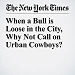 When a Bull is Loose in the City, Why Not Call on Urban Cowboys? | Sarah Maslin Nir