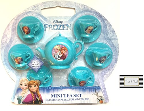 Disney Frozen Mini Tea Set - Includes 6 Cups, 6 Saucers, and 1 Tea Pot (Character Coffee Pot compare prices)