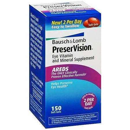 Отзывы Bausch and Lomb PreserVision AREDS Formula Eye Vitamins - 150 Softgels
