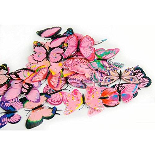 eenkula 12pc mur de autocollants 3d papillon st r o sticker mural r frig rateur r utilisable. Black Bedroom Furniture Sets. Home Design Ideas