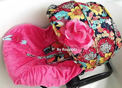Infant Carseat Canopy Cover 3 Pc Whole Caboodle Baby Car Seat Cover Kit Floral Print C010300 front-230872