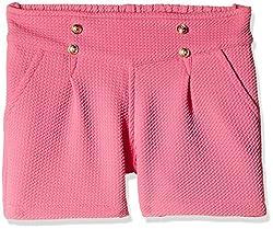 Little Kangaroos Girls' Shorts (Pack of 2) (11564_Pink_3 year)