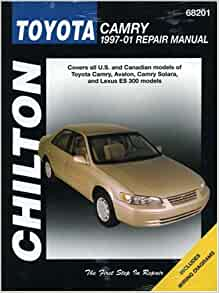 toyota camry chilton 39 s 1997 2001 repair manual chilton 9781563924675 books. Black Bedroom Furniture Sets. Home Design Ideas
