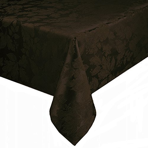 bbb-autumn-harvest-chocolate-brown-damask-fabric-tablecloth-table-cloth-90-rnd-by-bed-bath-beyond