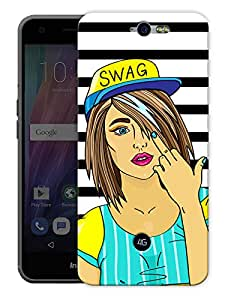"""Swag Says Screw You Printed Designer Mobile Back Cover For """"Google Infocus M812"""" By Humor Gang (3D, Matte Finish, Premium Quality, Protective Snap On Slim Hard Phone Case, Multi Color)"""