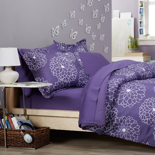 Discover Bargain Pinzon Bed in a Bag, Full/Queen, Purple Floral