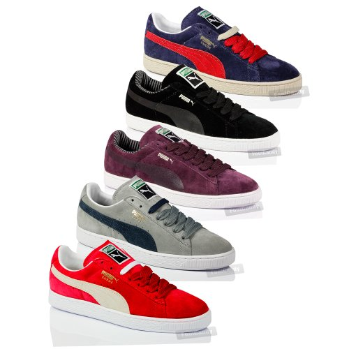 MENS BOYS PUMA CLASSIC SUEDE LEATHER SKATE VINTAGE SPORT TRAINERS SHOES SIZE