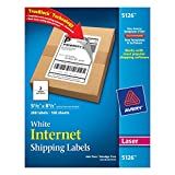 Avery Internet Shipping Labels for Laser Printers with TrueBlock Technology, 5.5 x 8.5 Inches, White, Box of 200 (05126)