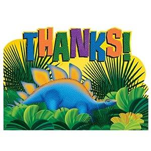 Amscan International Prehistoric Thank You Card