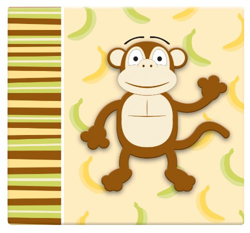MBI by MCS Industries Top Load 12-Inch by 12-Inch Scrapbook with 3-D Raised Characters, Monkey
