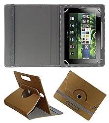 Acm Designer Rotating 360° Leather Flip Case For Blackberry Playbook 4g Tablet Stand Premium Cover Golden