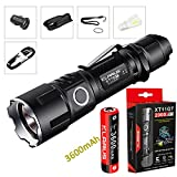 Bundle: Klarus XT11GT CREE XPH35 HD E4 LED 2000 Lumens 18650 Tactical Rechargeable Flashlight With 3600mah Battery+SkyBen USB Light and Car Charger