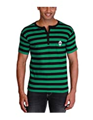 Max Exports Men's Cotton Striped Henley Tshirt - B00V2AX0K4