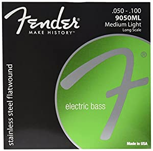 fender 9050ml stainless steel flatwound long scale electric bass guitar strings. Black Bedroom Furniture Sets. Home Design Ideas