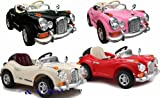 NEW DESIGN PINK CLASSIC VINTAGE ROLLS ROYCE STYLE 6V KIDS RIDE ON CAR WITH 4 WYAS PARENTAL REMOTE CONTROL + mp3 input + digital battery capacity timer + leather seat pad (ROLLS ROYCE- PINK)
