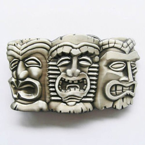 Brand New Tiki Masks Face Hawaii Islands Belt Buckle