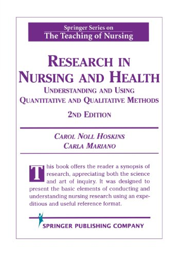 Research in Nursing and Health: Understanding and Using...