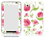 Bundle Monster Samsung Galaxy Tab 7.0 Vinyl Skin Cover Art Decal Sticker Protector Accessories - Painting Roses Pink