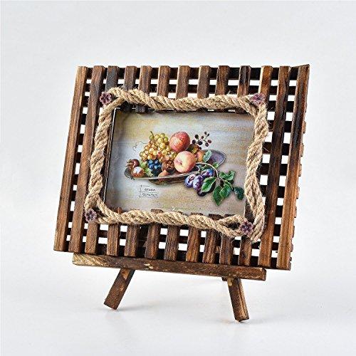 Arpan - Cornice portafoto in legno con cavalletto, idea regalo per Natale - 4''x6'' Inch