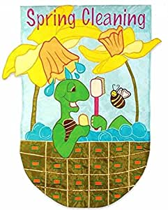 Spring Cleaning Turtle Applique Decorative