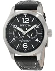 Invicta 0764 Collection Black Leather