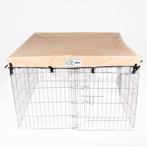 4' x 4' GoGo Pet Products Exercise Pen UV Top / Cover Tan (Playpen Cover compare prices)