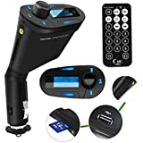 Findway® Car MP3 Player Wireless FM Transmitter Modulator Auto Stereos Car USB/SD/Card Reader MMC Slot and Car mp3 Audio Player Remote Control