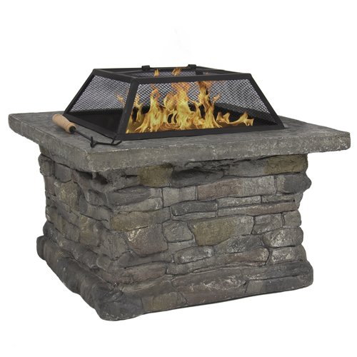 Best-Choice-Products-Elegant-29-Outdoor-Patio-Firepit-w-Iron-Fire-Bowl-Stone-Base-Mesh-Cover