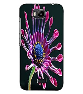 ColourCraft Beautiful Flower Design Back Case Cover for HUAWEI HONOR BEE