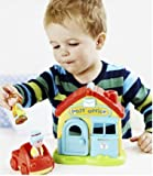 EARLY LEARNING CENTRE HAPPYLAND POST OFFICE WITH POST LADY OFFICE GIRL VAN- NEW