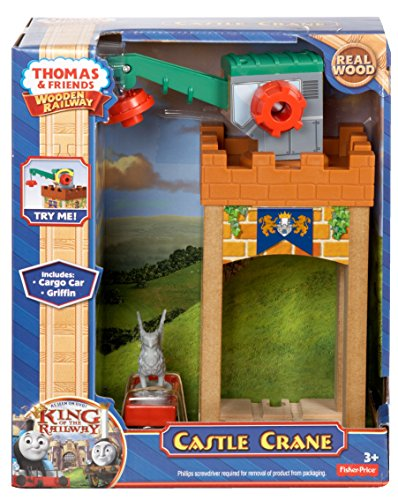 Fisher-Price Thomas the Train Wooden Railway Castle Crane