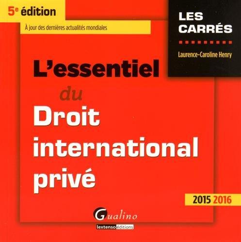 L'essentiel du droit international privé 2015-2016