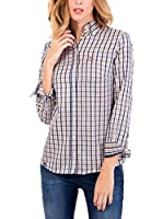 POLO CLUB Camisa Mujer Margot Academy (Marrón / Azul)